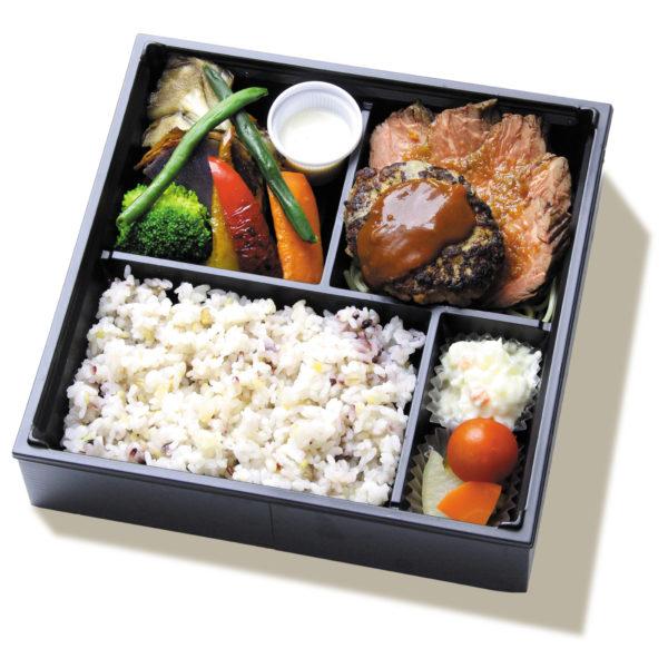 グリル野菜とステーキプレート